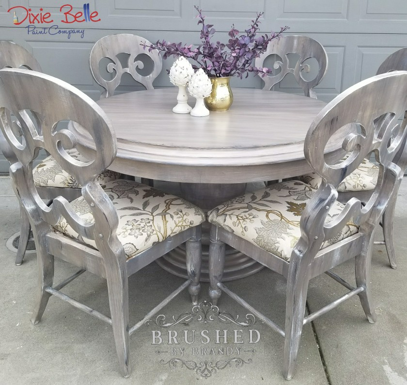 Weathered Wood Dining Set – Brushed By Brandy