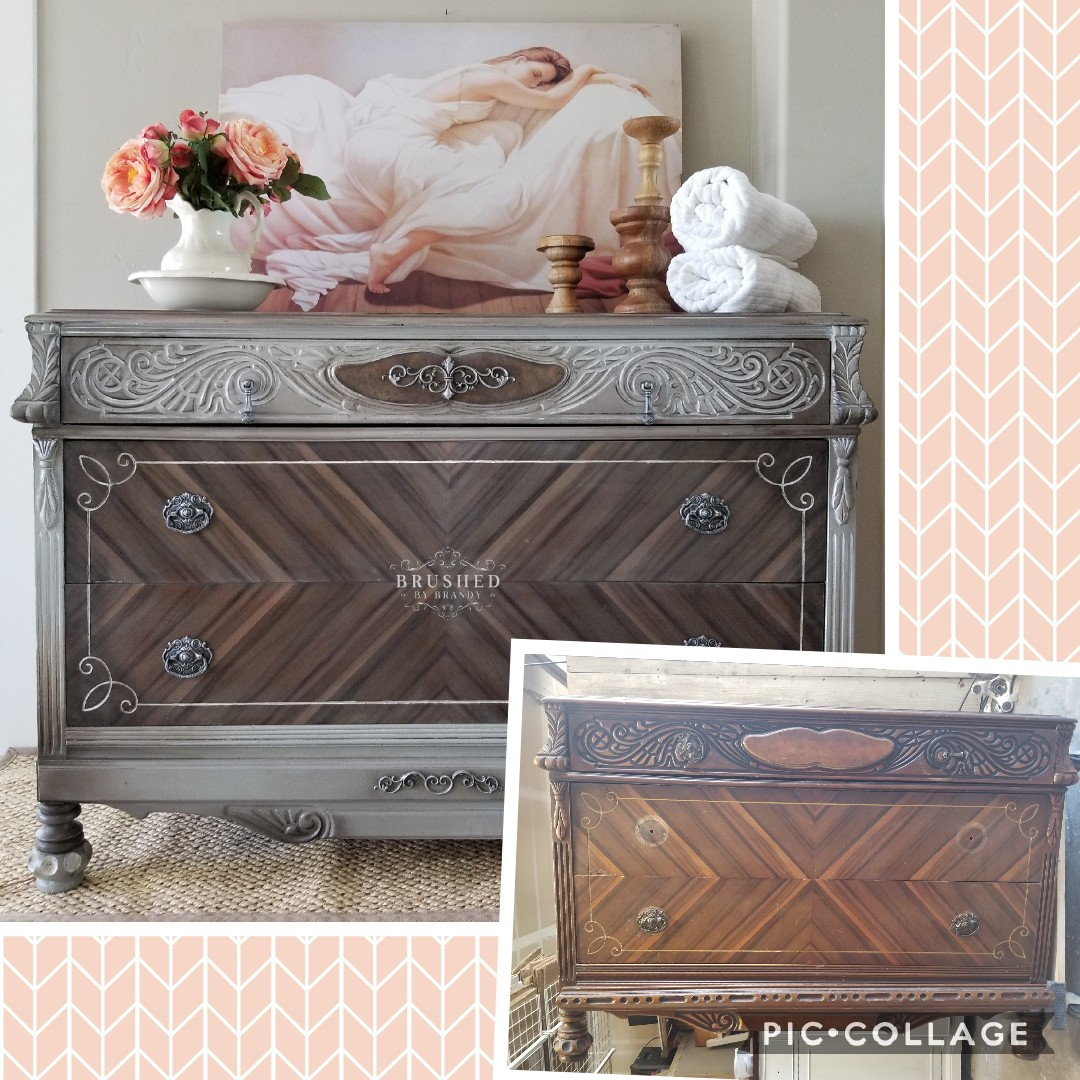 Warm Wood Grain - Two Tone Dresser