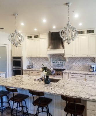 Countertops in Complete Kitchen Brushed by Brandy