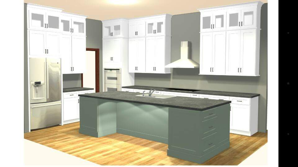 Full Kitchen Remodel with DIY Painted Range Hood Design Idea