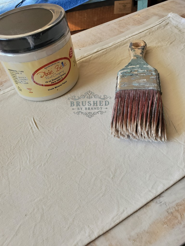 Sawmill Gravy How to Paint Fabrics for Custom Holiday Table Decor