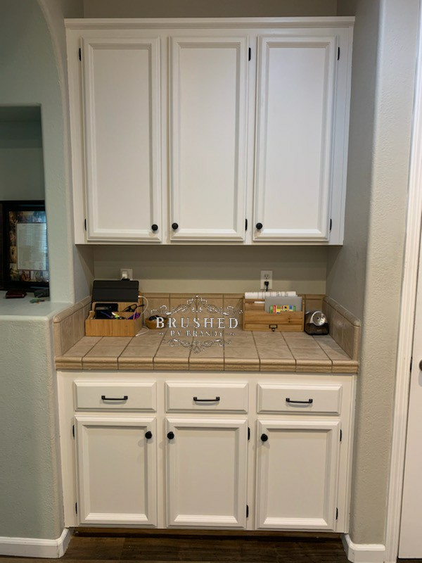 How To Refinish Your Kitchen Cabinets Brushed By Brandy