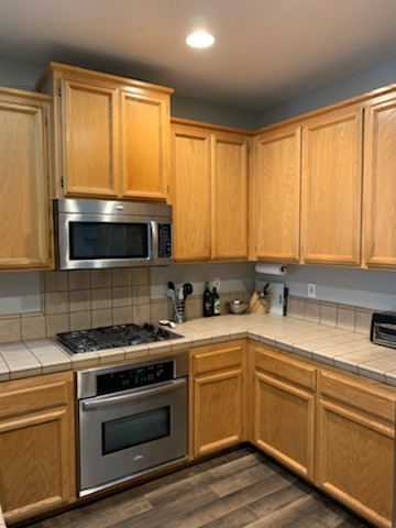 How To Chalk Paint Kitchen Cabinet Makeover Before Brushed by Brandy