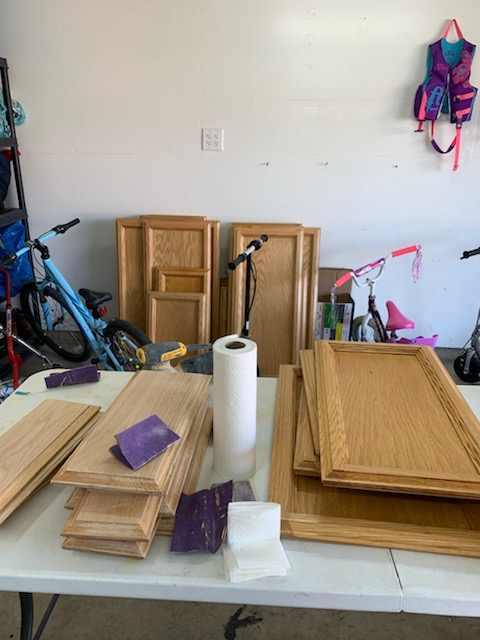 How To Chalk Paint Kitchen Cabinet Makeover Door Prep Brushed by Brandy
