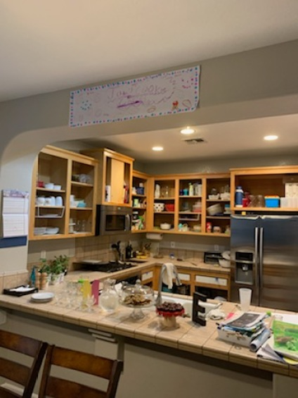 How To Paint Kitchen Cabinet Makeover Before Brushed by Brandy
