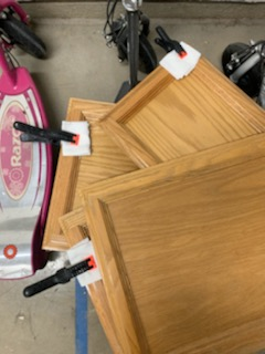 Door Repair How To Paint Kitchen Cabinet chalk paint Makeover Brushed by Brandy