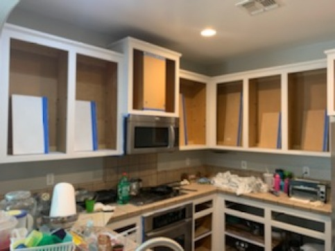 Empty Cabinets How To Chalk Paint Kitchen Cabinet Makeover  Brushed by Brandy